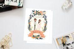 Heart & Fox   Illustrated Wedding Invitation   Bridal Musings Wedding Blog 1