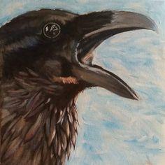 Raven: een portret door NatureNerdArts op Etsy https://www.etsy.com/nl/listing/251368104/raven-een-portret