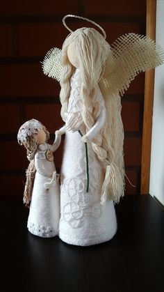 Christmas Decorations, Christmas Ornaments, Holiday Decor, Christmas Angels, Diy And Crafts, Alice, Dolls, Handmade, Inspiration