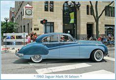 1960 Jaguar Mark IX.  The July 9, 2010 Rolling Sculpture car show in downtown Ann Arbor, Michigan.