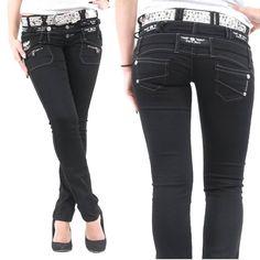 Cipo & Baxx Damen Jeans mit dreifachem Bundknopf schwarz  In kürze sind die Größen W31/L32, W32/L32 und W32/L34 wieder verfügbar.  Hier die Hose anschauen: http://www.stylefabrik-fashion.de/Cipo-Baxx-Damen-Jeans-CBW-313-Slim-Fit-mit-dreifachem-Bundknopf-und-silbernen-Aufdrucken-schwarz-CBW-0313?fb  Viel Spaß beim shoppen Die Stylefabrik