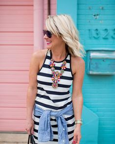 cassiesugarplumWeekend ready in the softest stripes & a statement necklace! 😍☀️ I plan on wearing this racerback tank dress all Summer long with sandals, sneakers & even as a cover-up! 🙌🏻🌴🏖 See more of this look with @splendidla on www.hisugarplum.com today! #sugarplumstyle http://liketk.it/2rDp5 #liketkit @liketoknow.it #nordstrom @nordstrom 📷 @sothentheysayblog 😘