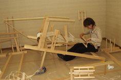 Japanese back strap loom