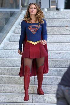 Melissa Benoist - On the set of  Supergirl  in Vancouver - 3702610737fed