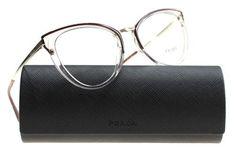 4cac7919283e New Prada Eyeglasses Women VPR 53U Brown VYT101 VPR53UV 52mm Transparent  Brown - Prada Eyeglasses -