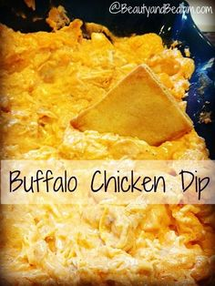 Addicting and delicious Buffalo Chicken Dip Recipe (Great Sandwich filling too). Perfect for game day!