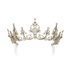 Diamond tiara/necklace, circa 1900 | lot | Sotheby's
