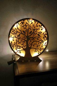 Lebensbaum Baum des Lebens aus Holz Deko Weihnachtsgeschenk Wohnzimmer Dekoration