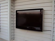 Rain proof, dent proof, everything proof case for an outdoor TV. This would be amazing to have on our patio!