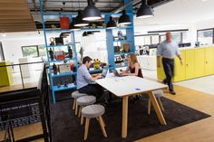 Reflecting GAMA's distinct personality, their new informal and open-plan office environment has been designed with an industrial look and feel and includes meeting room facilities, a variety of work settings and several hot desks.