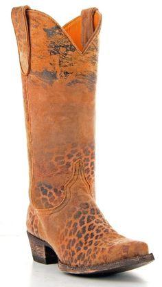 OLD GRINGO LEOPARDITO L168-1-13 OCRE LEOPARD PRINT WOMENS COWBOY BOOTS $450 #OldGringo #CowboyWestern