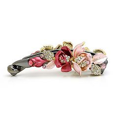 Beautiful Alloy With Rhinestones Barrette – USD $ 14.99