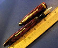 vtg Sheaffer Oversize Balance Lifetime Fountain Pen big 14k Gold Nib Carmine Red #Sheaffer