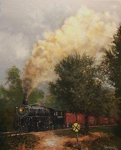 Train Crossing Soo Line 1003 by Tom Shropshire