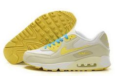 buy online 70096 97b37 Nike Air Max 90 Mens Shoes Beige White Yellow Blue Czech