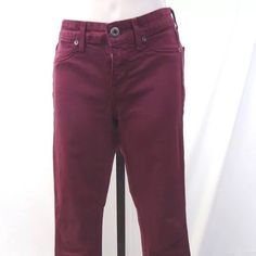 Rich & skinny maroon jeans size 24  FIRM UNLESS BUNDLED  Women's Rich and Skinny Maroon Jeans Size 24 Low Rise Skinny Jeans 42% Lyocell 33% Cotton 15% Rayon 9% Polyester 1% Spandex Approximate Measurements: Waist 26 inches, Hips 31 inches, Rise 7.25 inches, Inseam 28.75 inches, Cuff 10 inches Jeans are in overall excellent condition.  Jeans show minor signs of use. Rich & Skinny Jeans