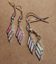 One Pair Fire Opal Earrings Gemstone Silver Jewelry Elegant Modern Drop Dangle A | eBay