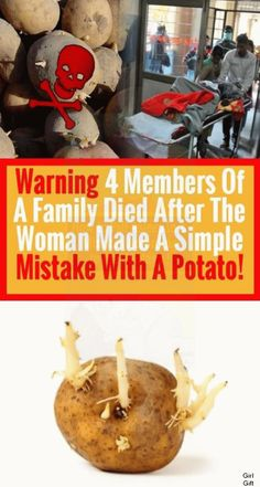 Warning: Four Members Of A Family Died After The Woman Made A Simple Mistake With A Potato!!! Pinterest Home Page, Get Post, Perfume, When I Grow Up, Talking To You, Get Healthy, Healthy Weight, Mistakes, Growing Up