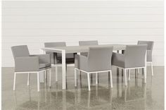 Biscayne 7 Piece Outdoor Dining Set W/Uph Chairs - Main
