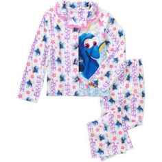 FINDING DORY - Girls  Licensed 2-Pc Coat Pajamas set - Walmart.com. Disney  Finding DoryDisney PixarKid CharacterFlannel ... d8667dbed