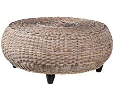 With a subtle driftwood finish and woven rattan construction, this rustic round coffee table is a delightfully natural addition to the living room. Coastal Furniture, Solid Wood Furniture, Shabby Chic Furniture, Furniture Deals, Driftwood Furniture, Furniture Cleaning, Brown Furniture, Rattan Furniture, Classic Furniture
