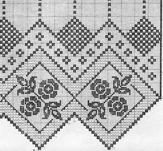 Kira scheme crochet: One beautiful or curtains Large Tablecloths, Oblong Tablecloth, Floral Tablecloth, Crochet Tablecloth, Filet Crochet, Crochet Motif, Crochet Lace, Crochet Patterns, Bird Curtains