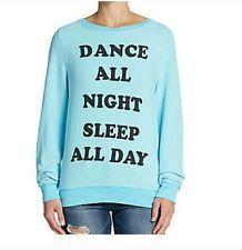 Brand New With Tags Wildfox Jumper Sweatshirt Size Small Dance All Night Sleep