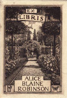 Bookplate by Louis Rhead (1857-1926)