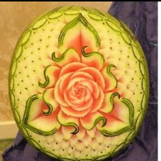 Watermelon carving from festival in Italy