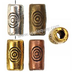 Zinc Alloy Tube Beads,Plated,Cadmium And Lead Free,Various Color For Choice,Approx 2.5*5mm,Hole:Approx 1.5mm,Sold By Bags,No 001833