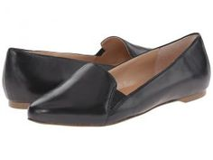 Dr. Scholl's Require Original Collection (Black Leather) Women's Flat Shoes