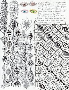 what i call morning pages! working a shape and exploring the possibilities