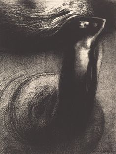 Odilon Redon, Death: My iron surpasses all others! (1889 - Lithograph)