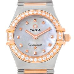 Omega Constellation My Choice Mini Diamond Watch 1368.71.00 Box Papers