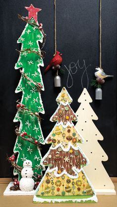 Oh #Christmas Tree! Ready To Finish DIY Lighted Wood Trees Are Perfect Way  To