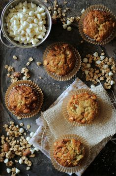 Banana and White Chocolate Chip Muffins by How To: Simplify, via Flickr
