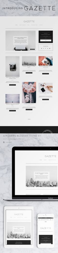 Responsive Blogger template with Pinterest syle layout. #fashionblog