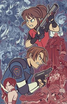 Resident Evil 2 is one of my all time favorite games, and I am very much looking forward to the remake coming out very soon! Tyrant Resident Evil, Resident Evil Franchise, Resident Evil Anime, Resident Evil Girl, Fanart, Video Game Art, Video Games, Character Art, Character Design