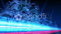 Neon Light City F3Ab4 4k - Stock Footage | by bluebackimage