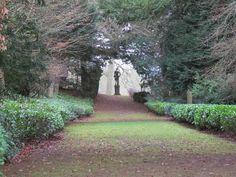 View looking toward Apollo Statue at Rousham House