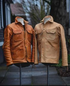 A place for all pictures, discussion, trades or ideas for our stuff that holds up. Tan Leather Jackets, Gents Fashion, Moda Casual, Canvas Leather, Mens Suits, Real Leather, Gentleman, Gents Style, Casual Menswear