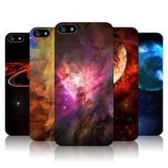 HEAD CASE DESIGNS OUTER SPACE SET 2 HARD BACK CASE COVER FOR APPLE iPHONE 5 5S
