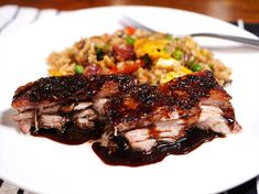 Delicious slow-cooked pork belly with a honey soy glaze. Slow Cooker Pork Belly, Slow Cooked Pork, Slow Cooker Recipes, Crockpot Recipes, Pork Belly Recipes, Fish Recipes, Leftover Pork, Large Slow Cooker, Cooking Appliances
