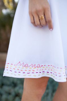 DIY embroidered dress for Mother's Day   Merrick's Art
