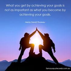 Famous Quote Cards | quote by Henry David Thoreau - Achieving Quote Card
