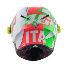 2018 Valentino Rossi's AGV Mugello Helmet Valentino Rossi Helmet, Valentino Rossi Yamaha, Valentino Rossi 46, Motorcycle Helmets, Bicycle Helmet, Marcelo D2, Agv Helmets, Vr46, Helmet Design