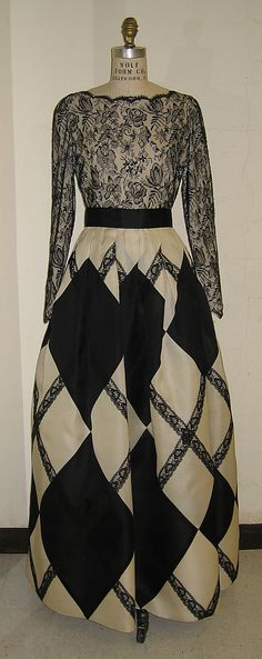 Evening dress Bill Blass Ltd.  (American, founded 1970) Date: 1993 Culture: American Medium: synthetic Dimensions: Length at CB: 59 in. (149...