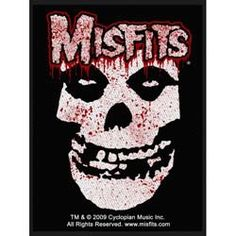 Bloody Classic Fiend Skull Logo Inches x 36 Inches) Hard Rock, Misfits Band, Punk Shop, Punk Poster, Skull Logo, Band Logos, Bumper Stickers, Rock Art, Poster Prints