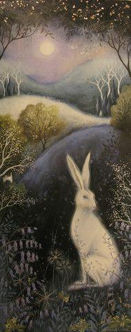 кролики аманды кларк: 9 тыс изображений найдено в Яндекс.Картинках  I love the hare with the trees and the full moon!