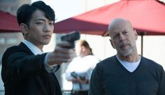 """Rain and Bruce Willis 